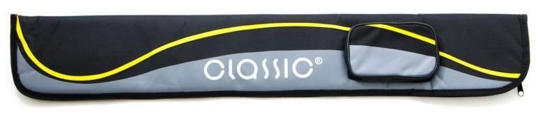 Чехол для кия «Classic Passion 2/2» (черно-желтый)