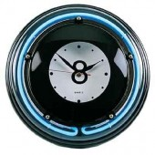 Часы настенные «Восьмерка» (неон) D35см