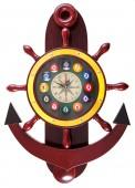 Часы настенные «Якорь» 40 см х 61 см, деревянные