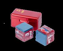 Мел «Ball teck PRO II» (2 шт, в красной металлической коробке) синий