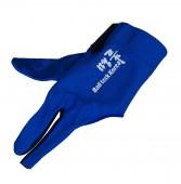 Перчатка бильярдная «Ball Teck MFO» (черно-синяя, вставка замша), защита от скольжения