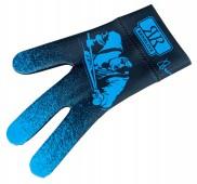 Перчатка бильярдная «Longoni Billiard Player BLUE» (черно-синяя)