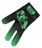 Перчатка бильярдная «Longoni Billiard Player GREEN» (черно-зеленая)