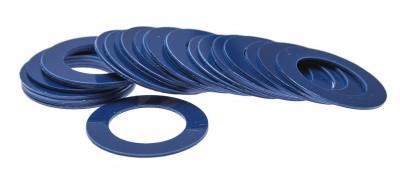 Кольцо декоративное для шафта упаковка 25 шт. (синее, 0.8мм, н/д 25мм, в/д 16мм)
