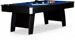 Бильярдный стол для пула «Riga» 8 ф (черный) ЛДСП в комплекте аксессуары