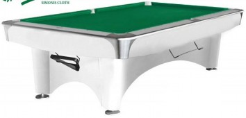 Бильярдный стол для пула «Dynamic III» 8 ф (белый)