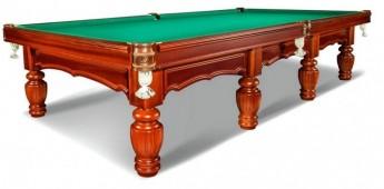 Бильярдный стол для русского бильярда «Лидер» 12 футов (корица)