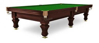 Бильярдный стол для русского бильярда  «Hardy» 9 ф (черный орех, 6 ног, плита 25 мм)