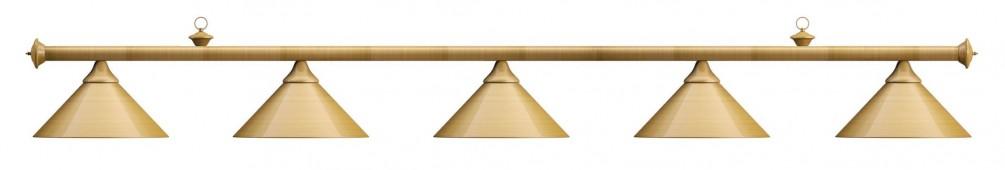 Лампа на пять плафонов «Elegance» (матово-бронзовая штанга, матово-бронзовый плафон D35см)