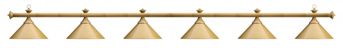 Лампа на шесть плафонов «Elegance» (матово-бронзовая штанга, матово-бронзовый плафон D35см)