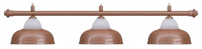 Лампа на три плафона «Crown» (бронзовая штанга, бронзовый плафон D38см)
