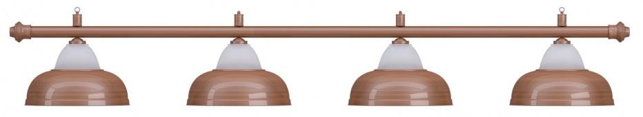 Лампа на четыре плафона «Crown» (бронзовая штанга, бронзовый плафон D38см)
