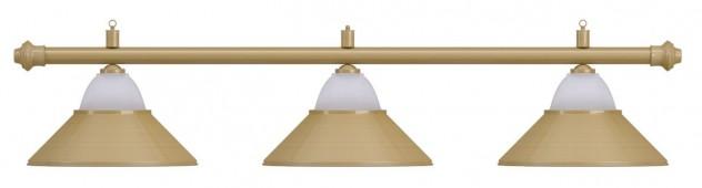 Лампа на три плафона «Jazz» (матово-бронзовая штанга, матово-бронзовый плафон D38см)
