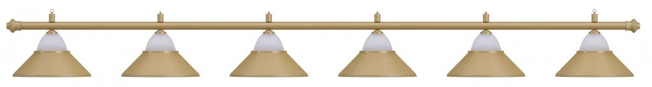Лампа на шесть плафонов «Jazz» (матово-бронзовая штанга, матово-бронзовый плафон D38см)