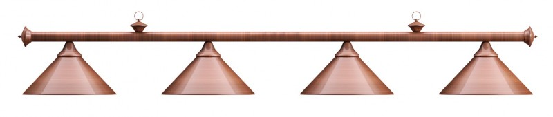 Лампа на четыре плафона «Elegance» (бронзовая штанга, бронзовый плафон D35см)