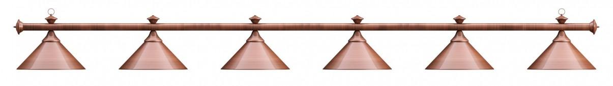 Лампа на шесть плафонов «Elegance» (бронзовая штанга, бронзовый плафон D35см)