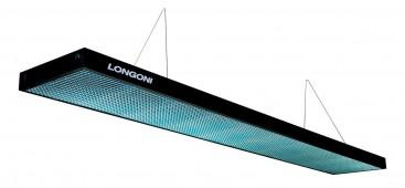 Лампа плоская люминесцентная «Longoni Compact» (черная, бирюзовый отражатель, 287х31х6см)