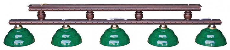 Лампа на пять плафонов «Turnus II» (черный орех)