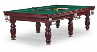 Бильярдный стол для русского бильярда «Дебют» 9 ф (махагон) ЛДСП