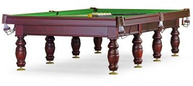 Бильярдный стол для русского бильярда «Дебют» 12 ф (махагон, плита 25мм, 8 ног)